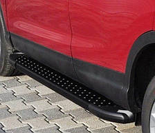 Подножки боковые на Honda Pilot (2008-2016) черные с шипами