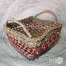 Корзина плетеная квадратная (хогла), фото 2