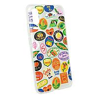 Защитный чехол для Xiaomi Redmi 9A оригинальный противоударный Stickers прозрачный с принтом