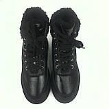Женские черные полусапоги теплые зимние H-1441, фото 2