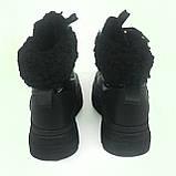 Женские черные полусапоги теплые зимние H-1441, фото 4