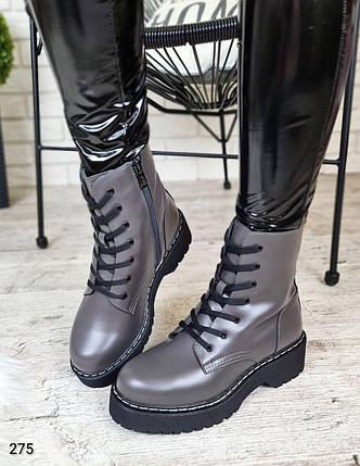 Зимние женские ботинки на высокой подошве с мехом  LS-275, фото 2