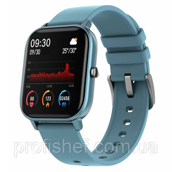 UWatch Смарт часы Smart P8 Sport Blue