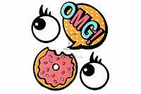 Набор декоративных наклеек Trendy Sticker OMG цена за 1 шт, полимер, 11,5x9,5см, наклейки, декоративные