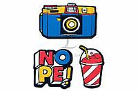 Набор декоративных наклеек Trendy Sticker Сamera цена за 1 шт, полимер, 11,5x9,5см, наклейки, декоративные