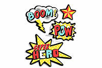 Набор декоративных наклеек Trendy Sticker Fast Boom цена за 1 шт, полимер, 11,5x9,5см, наклейки, декоративные
