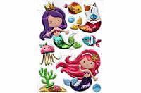 Набор декоративных наклеек Home Decor World of Mermaids цена за 1 шт, 21x30см, наклейки, декоративные наклейки