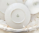 Антикварная немецкая чайная тройка, чашка, блюдце, тарелка, фарфор, Германия, Roslau, фото 9