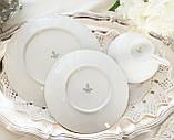 Антикварная немецкая чайная тройка, чашка, блюдце, тарелка, фарфор, Германия, Roslau, фото 8