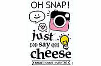 Набор декоративных наклеек Home Decor Just Say Cheese цена за 1 шт, 21x30см, наклейки, декоративные наклейки