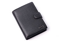 Мужской кожаный кошелек портмоне Cardinal на кнопке мужской кошелек из натуральной кожи бумажник мужской