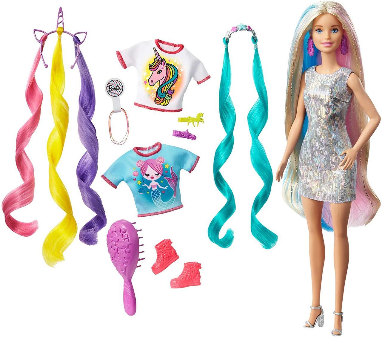 Кукла Барби Фантастические волосы Оригинал Barbie Fantasy Hair Doll, Blonde (GHN04)