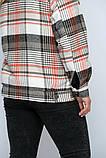 Куртка утеплена Сандра в клітку беж, фото 2