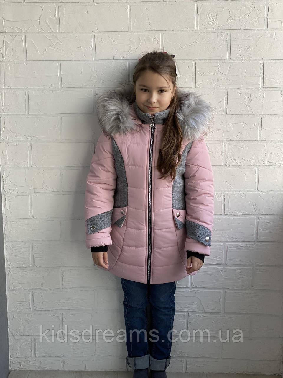 """Зимове пальто для дівчинки """"Бджілка"""" 34 -44размер"""