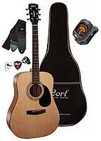 Гитара акустическая CORT TRAILBLAZER PACK CAP-810 (Open Pore) (AD810 -Комплект)
