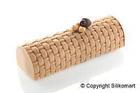 Силиконовая форма для десертов Silikomart Kit Buche+TEX02Vienna250х90mm.h=70 (Италия) (04432)
