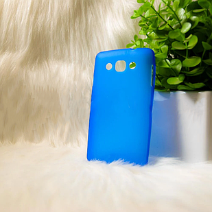 """Силіконовий чохол Samsung i8262 """"Cool Black"""" Синій (blue)"""