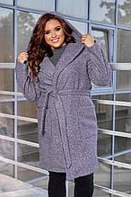 Кардиган-пальто тепле букле, весна-осінь, кольори в асортименті, р. 44,46,48,50 Код 298Ч