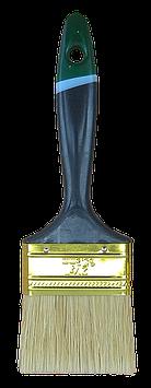 """Кисть плоская """"Английская"""" 4,0"""" (100мм/14мм/51мм), натуральная щетина, пластиковая ручка HTools, 93K540"""