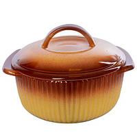 """Кастрюля керамика с крышкой """"Ethno Organic"""" 236788 объем 1.2л, керамика, 21*17*8см, кастрюли, кухонная посуда,"""