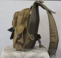 Тактический, штурмовой однолямочный рюкзак Silver Knight 9 л рюкзак на одно плечо Coyote (099-coyote)