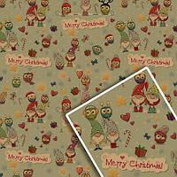 Бумага упаковочная крафт Новогодняя размер 70х100см, в упаковке 10л, Бумага для подарков, Бумага упаковочная,