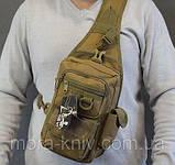 Тактический, штурмовой однолямочный рюкзак Silver Knight 9 л рюкзак на одно плечо Coyote (099-coyote), фото 2