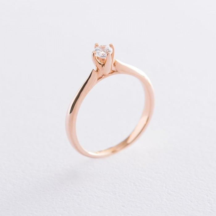 Золотое помолвочное кольцо с фианитом гк06238
