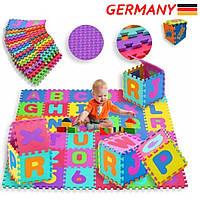 Детский коврик-пазл 3,5 м.кв. мягкий теплый спортивный мат KIDIZ А1