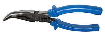 Щипцы удлиненные изогнутые 200мм. Рабочая часть подготовлена из стали (45-55 HRC). HTools, 32K126