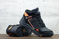 Мужские кожаные зимние кроссовки/ботинки