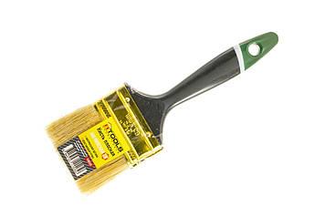 """Кисть плоская """"Английская"""" 2,5"""" (63мм/11мм/44мм), натуральная щетина, пластиковая ручка HTools, 93K525"""