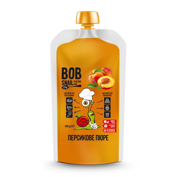 Персиковое натуральное пюре BOB SNAIL (Боб Снейл), 400 г