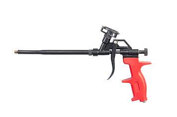 Пистолет для нанесения монтажной пены (Тефлон). Прочный,  разборной металлический корпус. HTools, 21K506