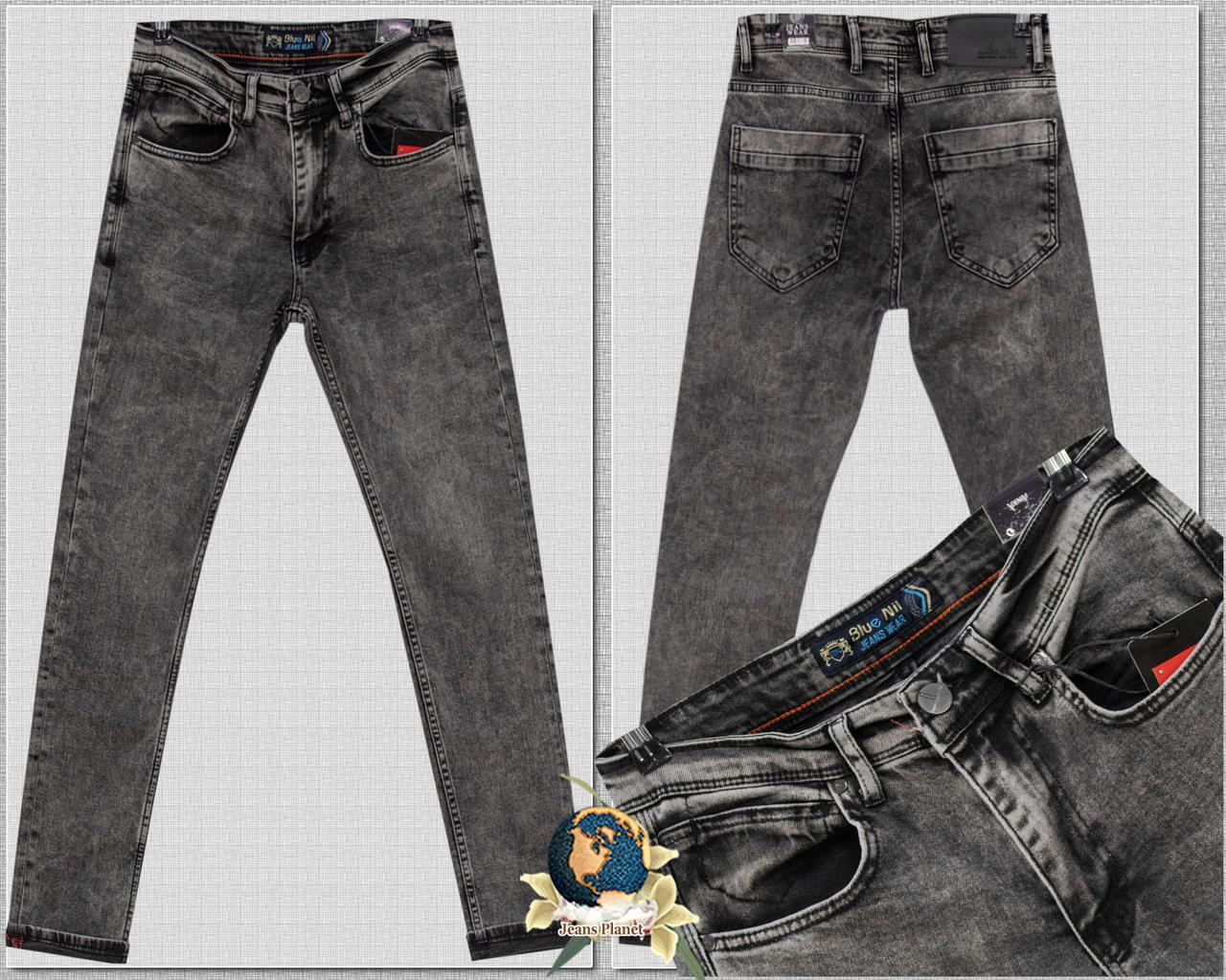 Джинсы мужские модные зауженные оригинального серого цвета размеры 29 32