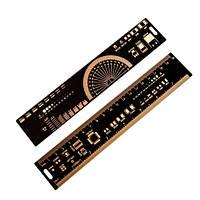 PCB Ruler линейка шаблон для электронщика радиолюбителя 20см