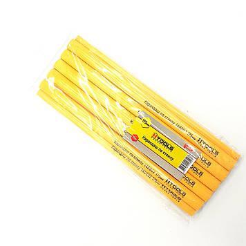 Набор жёлтых овальных карандашей по стеклу 175 мм (в наборе 12 шт) HTools, 14B802