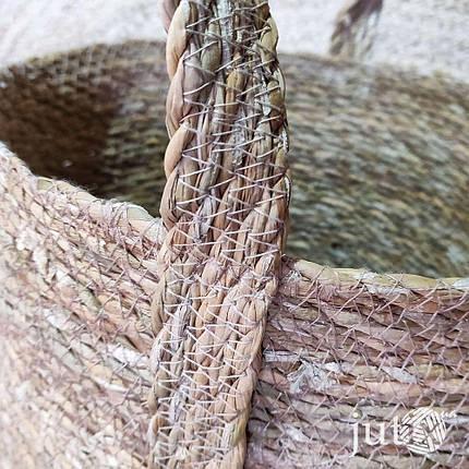 Корзина плетеная круглая (хогла + джут), фото 2