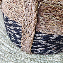Корзина плетеная круглая (хогла + джут), фото 3