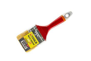 """Кисть плоская """"Евро"""" 3,0"""" (75мм/15мм/51мм), натуральная щетина, пластиковая ручка HTools, 93K430"""