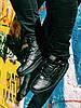 Кроссовки черные высокие Найк Аир Форс
