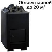 Печь банная, без выноса, глухая дверь, черн. PК-20 (20кВт)