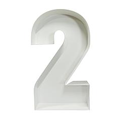 Цифра 2 з пінокартону (1м)
