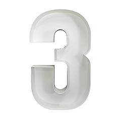 Цифра 3 з пінокартону (1м)