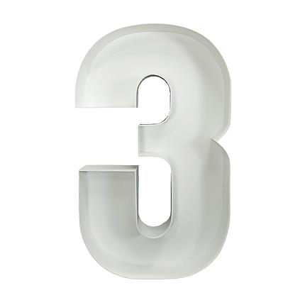Цифра 3 из пенокартона (1м), фото 2