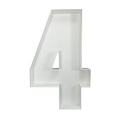 Цифра 4 из пенокартона (1м)