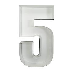 Цифра 5 з пінокартону (1м)