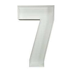 Цифра 7 з пінокартону (1м)