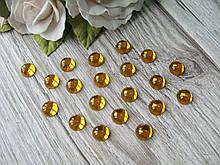 """""""Крапелька роси"""" клейовий декор, 8 мм, колір жовті, ціна 13 грн - 50 шт"""
