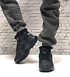 Зимние мужские кроссовки Nike Huarache X Acronym City Winter black с мехом теплые черные. Живое фото. Реплика, фото 5